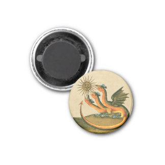 Clavis Artis Dragon Sepia 3 Cm Round Magnet