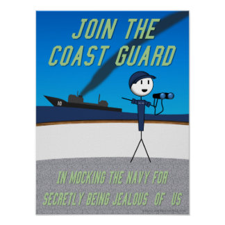 "Claw of Knowledge ""Join the Coast Guard"" Poster"