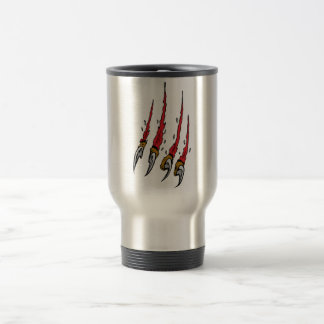 Claws in flesh stainless steel travel mug