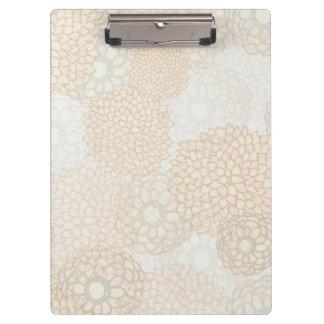 Clay and Tan Flower Burst Design Clipboard