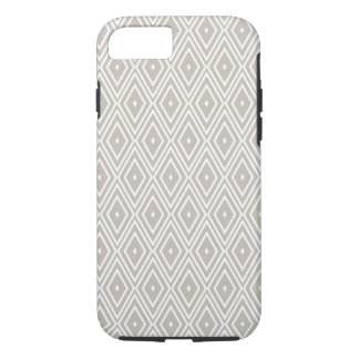 Clay and White Diamond Pattern iPhone 7 Case