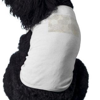 Clay and White Flower Burst Design Sleeveless Dog Shirt