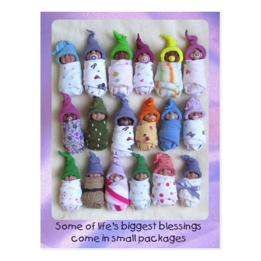 Clay Babies, Large Group, Life's Biggest Blessings Post Card