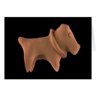 Clay Dog Greeting Card