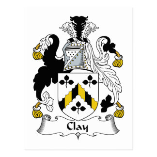 Clay Family Crest Postcard