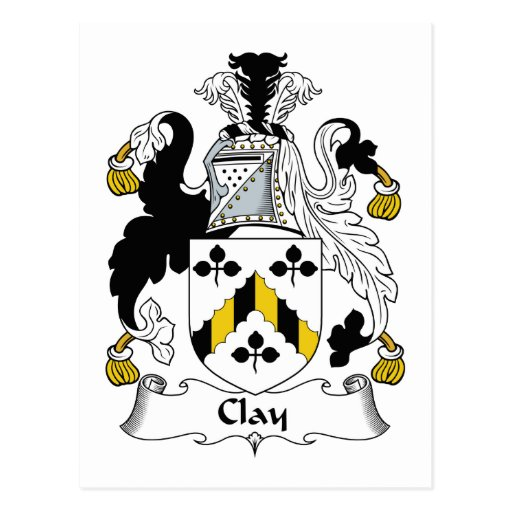 Clay Family Crest Post Cards