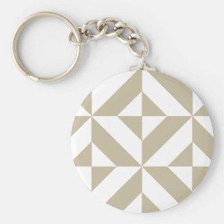 Clay Geometric Deco Cube Pattern Keychains