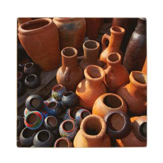 Clay Pots, Hazyview, Mpumalanga, South Africa Wood Coaster