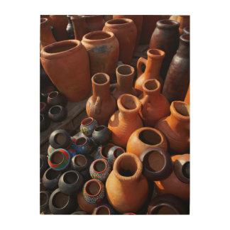 Clay Pots, Hazyview, Mpumalanga, South Africa Wood Wall Decor