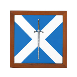 Claymore and Saltire Desk Organiser