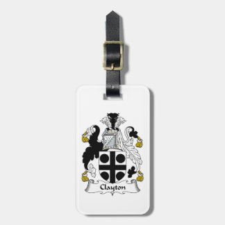 Clayton Family Crest Luggage Tag