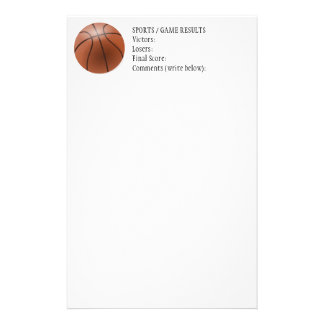 CLBB Generic Sports Results Letterhead Personalised Stationery