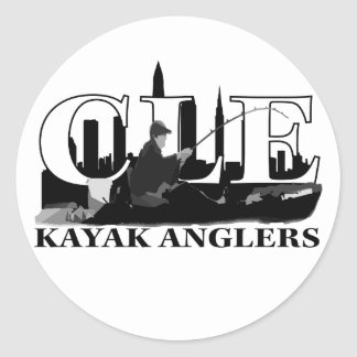 CLE Kayak Anglers Round Sticker