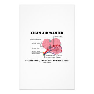 Clean Air Wanted Because Smoke Smog Dust Ruin My Stationery
