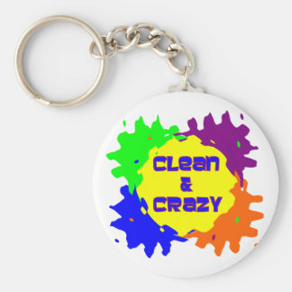 Clean and Crazy Basic Round Button Key Ring