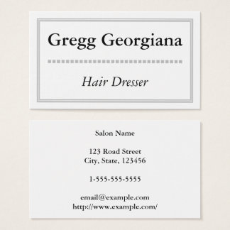 Clean and Simple Hair Dresser Business Card