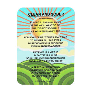 CLEAN AND SOBER MAGNET