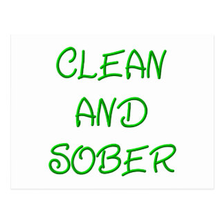 CLEAN AND SOBER POSTCARD