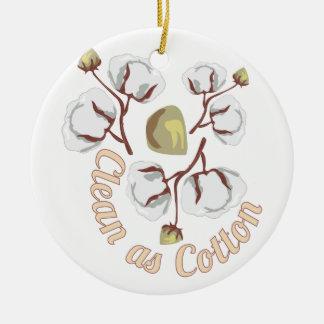 Clean As Cotton Round Ceramic Decoration