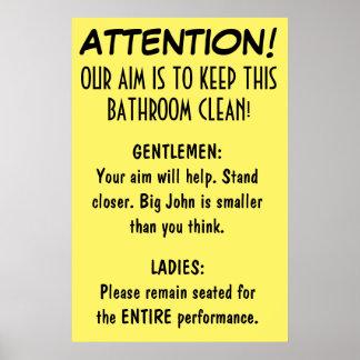 Clean Bathroom Posters