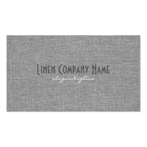 Clean Black & Gray Linen Burlap Texture Business Card Template