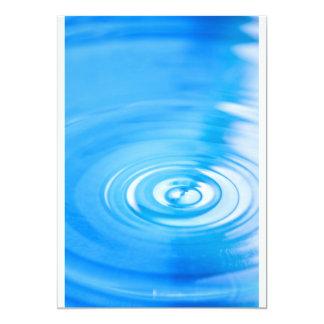 Clean blue water ripples 13 cm x 18 cm invitation card