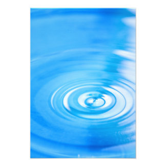 Clean blue water ripples custom announcement