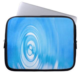 Clean blue water ripples laptop sleeve