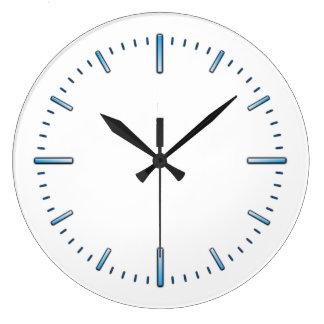 plain blue kitchen wall clocks