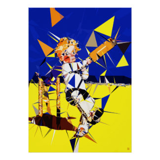 Clean Bowled! - Cricket Art Print On Canvas