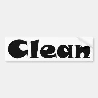Clean Bumper Sticker