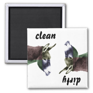 Clean Burro or Dirty Donkey Dishwasher Magnet