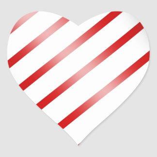 Clean Candy Cane Heart Sticker
