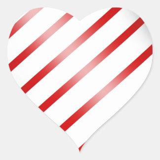 Clean Candy Cane Heart Sticker