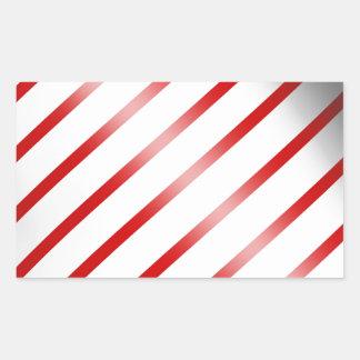 Clean Candy Cane Rectangular Sticker