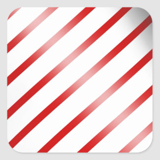 Clean Candy Cane Square Sticker