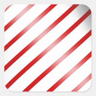 Clean Candy Cane Square Sticker