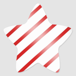 Clean Candy Cane Star Sticker