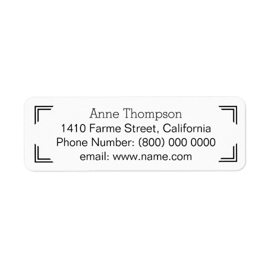 clean & clear address information