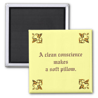 Clean Conscience - Magnet... 2 Inch Square Magnet