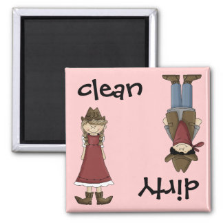 Clean Cowgirl or Dirty Cowboy Dishwasher Magnet
