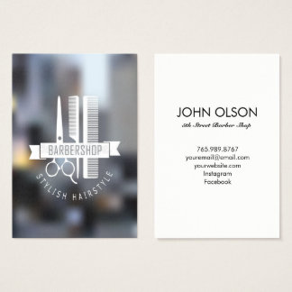 Clean Cut Barber Business Card