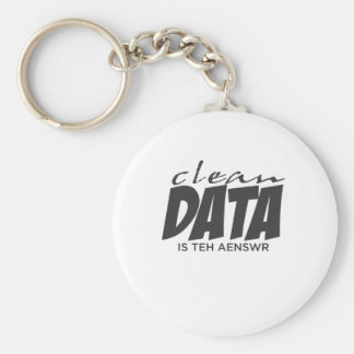 Clean Data is the Answer Basic Round Button Key Ring