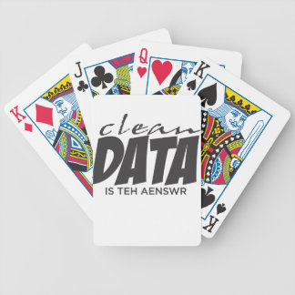 Clean Data is the Answer Bicycle Playing Cards