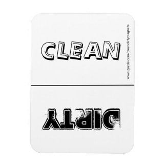 Clean Dirty (Black & White) w/website address Rectangular Photo Magnet
