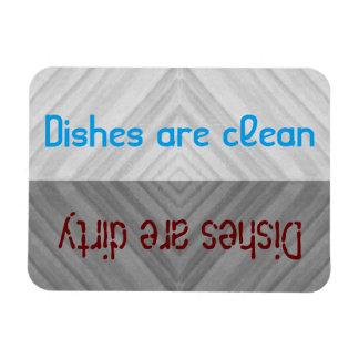 Clean   Dirty Dishes Dishwasher Rectangular Photo Magnet