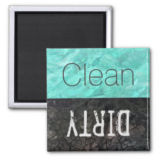 Clean   Dirty Dishes Dishwasher Square Magnet