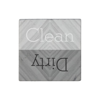 Clean   Dirty Dishes Dishwasher Stone Magnet