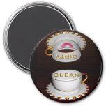 Clean Dirty Dishwasher Kitchen 7.5 Cm Round Magnet