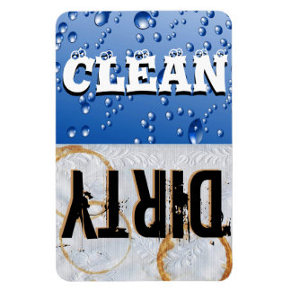 Clean & Dirty Dishwasher Large Vinyl Magnet